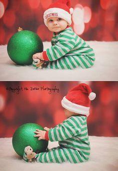 Cute Christmas baby photo