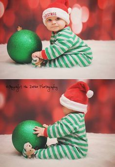 Cute Christmas baby photo