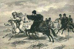 a man chasing a bride