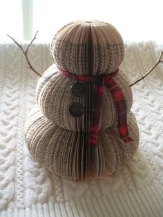 Book Snowman/Christmas decor/decorations/centerpiece/gifts on Etsy, $15.00