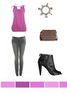 Pink, Grey & Black