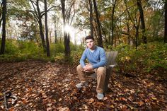 Senior Portrait Outdoors at the Studio :: Ian