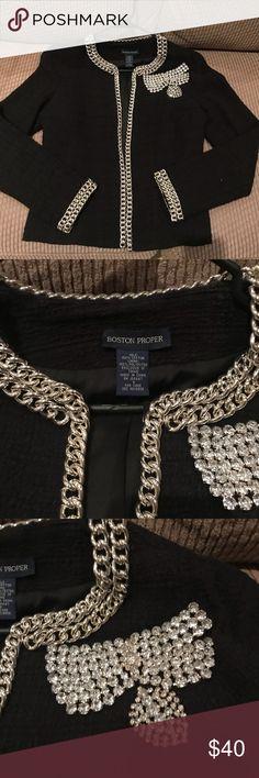 Boston Proper rhinestone jacket size 6 Boston Proper rhinestone jacket size 6 Excellent condition Boston Proper Jackets & Coats