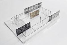 Sanaa installation at the mies van der rohe pavilion. diagram model