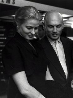 Ingrid Bergman and Yul Brynner