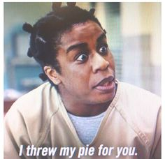 Suzanne 'crazy eyes' Warren from Orange is the New Black. My newest tv show obsession.