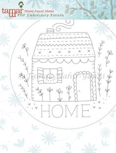 Embroidery Pattern Instant Download Needlecraft by TamarNahirYanai