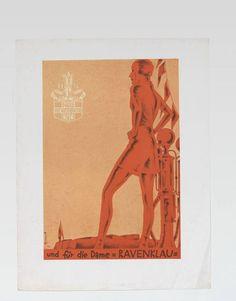 Werbeanzeige, Werbeanzeige Titel: Werbeanzeige für Ravenklau Zigaretten (vom Bearbeiter vergebener Titel) Entstehung / Datierung: Deutsch-Dryden, Ernst, Entwurf, um 1929