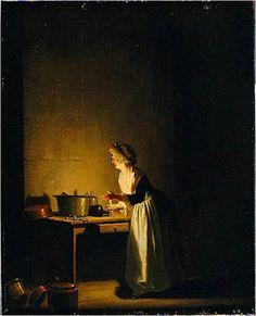 Kitchen Scene, Pehr Hilleström (November 18, 1732 – August 13, 1816),