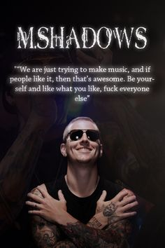 M.Shadows - Music and Fans by Sixxer36-Punk