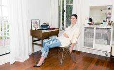 """J.Crew x Jean Stories: """"I gravitate toward thicker denim, with not too much stretch, and a wash that looks authentic."""" –Annina Mislin, stylist. Read more on jcrew.com/blog."""