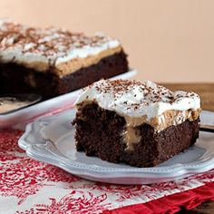 Chocolate Peanut Butter Pudding Poke Cake#Repin By:Pinterest++ for iPad#