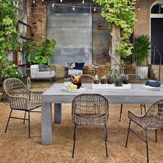 $1300, seating for 8. Modern Teak Outdoor Dining Table