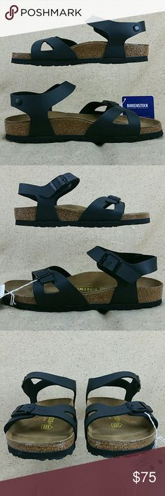 Birkenstock Rio Ankle Strap Sandals W 9 These sandals are new with tags am still attached. NO wear to the bottoms. Look over the pictures carefully before purchasing. Birkenstock Shoes Sandals