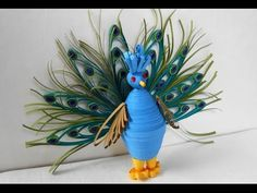 3D Quilling Peacock - Making Tutorial - YouTube