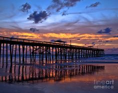 The Pier At Amelia Island Florida Photograph  - The Pier At Amelia Island Florida Fine Art Print