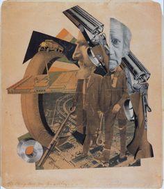 DADA Movement: Hannah Höch, Hochfinanz (High Finance, Haut Finance), photomontage, 36 x 31 cm, Galerie Berinson, Berlin, 1923.