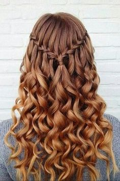 10 Pretty Waterfall French Braid Hairstyles Down Hairstyles For Loose Waterfall Braid For Summer Hair Inspiration Braid Braided 15 Best Long Wavy Hairstyles Pop Waterfall French Braid, Waterfall Braid With Curls, Waterfall Hairstyle, Waterfall Braid Tutorial, Cascade Braid, Down Hairstyles For Long Hair, French Braid Hairstyles, Dance Hairstyles, Amazing Hairstyles