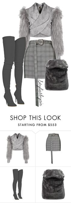 """Untitled #6663"" by stylistbyair ❤ liked on Polyvore featuring Balmain, Magda Butrym and Puma"