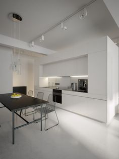 Modern white kitchen diner