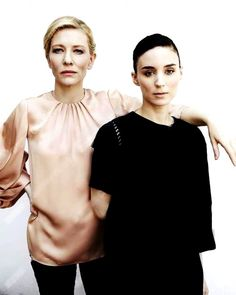 Cate Blanchett and Rooney Mara BTS of the photoshoot in Cannes, 2015