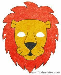 Lion mask and other free printable animal masks