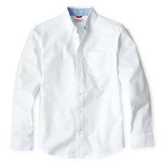fecf20f32 IZOD Long Sleeve Oxford Shirt Boys 8 20 and Husky JCPenney