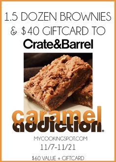 Brownies & Gift Card Giveaway