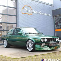 : Alpina MyWay Probably the ultimate Q car. Alpina liter 260 Bhp in an back in the This car sold by… Bmw 318is E30, Bmw Cabrio, Bmw E30 325, Bmw E30 Coupe, Bmw Alpina, Custom Chevy Trucks, Custom Cars, Bmw Old, Bmw Wallpapers