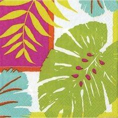 Caspari Paper Napkins 10730C Leaf Collage Cocktail Napkins by Caspari. $4.95. Set of 20 Paper Cocktail Napkins per package.. Caspari Leaf Collage Paper Cocktail Napkins.. 10 x 10 inches open; 5 sq inches folded.. Caspari Paper Cocktail Napkins. Adapting the elegance of a formal place setting to everyday living using non-toxic, water soluble dyes. Caspari is committed to producing products using environmentally sound raw materials. Caspari Paper Entertaining Products.