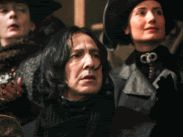 Prof. Snape watching Harry play Quidditch, and apparently not pulling for Slytherin after all