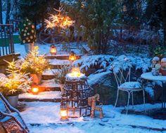 Koristele puutarhasi tunnelmalliseksi talven ihmemaaksi. Teksti Heidi Haapalahti, kuvat Teija Tuisku www.viherpiha.fi