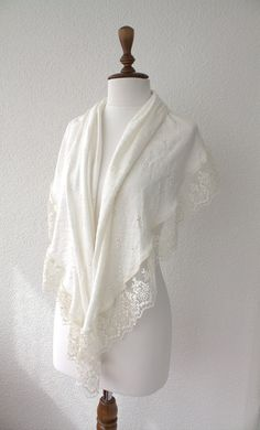 Hey, I found this really awesome Etsy listing at https://www.etsy.com/listing/185372187/ivory-wedding-shawl-bridal-shrug-with
