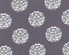 Designer cotton fabric by the yard BLOOM DC 4083 in Gray by Paula Prass from Woodland Delight Collection for Michael Miller Fabrics