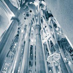 Interior de la Sagrada Familia.