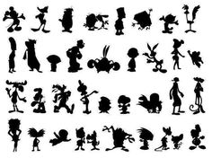 I see Mickey Mouse, Daffy Duck, Fred Flintsone, The Roadrunner(beep beep). Bugs Bunny,Snoopy, Charlie Brown, Mighty Mouse Popeye, Olive Oil, Betty Boop, Casper the Ghost, Bullwinkle, Barney Rubble, The Pimk Panther, Yogi Bear, Marge Simpson