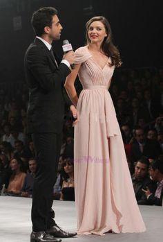 Sale Miranda Kerr Designer Gowns Prom Party Dress Long Formal Evening Dresses