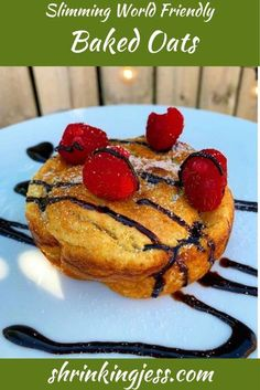 This delicious Slimming World breakfast is great if you have a sweet tooth, it�s like having cake for breakfast! Check out this and many more vegetarian Slimming World recipes on my blog. Baked Oats Slimming World, Slimming World Breakfast, Slimming World Recipes, Breakfast Cake, Sweet Breakfast, Vegetarian Breakfast, Breakfast Recipes, Oat Pancakes, Oats Recipes