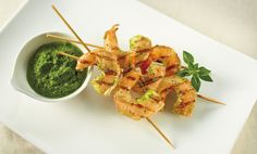 Basil Chimichurri Grilled Shrimp Skewers | Catersource