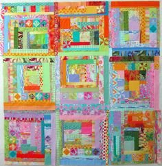 Melody's at it again. Isn't this a beauty?! What an awesome way of using scraps.