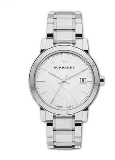 Mother's Day gift ideas:  Burberry Polished Check Sunray Watch ($495)