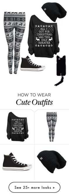 """Cute Christmas outfit"" by aryluvyou on Polyvore featuring Converse and Missguided"