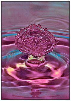 Pink Umbrella Droplet