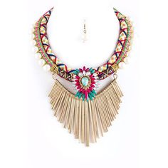 Retro Tribal Rope Necklace Set