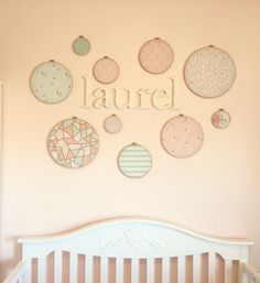 Embroidery Hoop Wall Art Nursery Decor Mint by SouthernGentryCo  sc 1 st  Pinterest & 78 best Southern Gentry Co. images on Pinterest | Southern Wedding ...