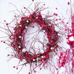 Weihnachtskranz-Tür-Heidelbeere