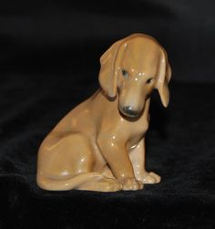 Bing & Grondahl /Royal Copenhagen Dog Figurine-Dachshund # 1755-by D Jensen-MINT #BingGrondahl