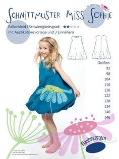 Schnittmuster - Miss Sophie - Ballonkleid - Kleid von Valentina-Stoffe auf DaWanda.com