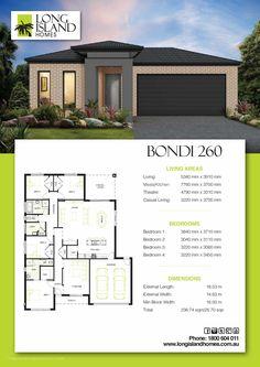 Bondi 260 Modern House Floor Plans, Simple House Plans, Home Design Floor Plans, Best House Plans, Dream House Plans, House Layout Plans, House Layouts, Hip Roof Design, Modular Home Designs