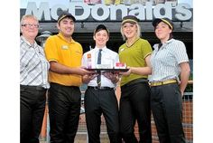 Staff lovin' designer uniforms | McDonald's workers have been given a make-over